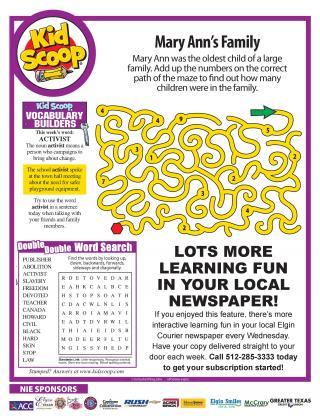Kid Scoop - Print Friendly!