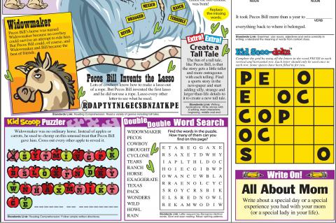 Kid Scoop - Newspaper Page